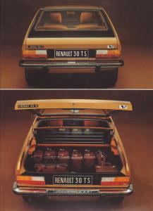 Par rapport à la 604 présentée au même moment, l'atout de la Renault 30 est son hayon arrière, qui en fait néanmoins une voiture moins >.